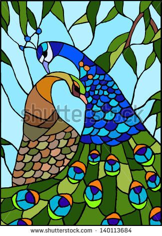 stock-vector-peacock-stained-glass-window-140113684