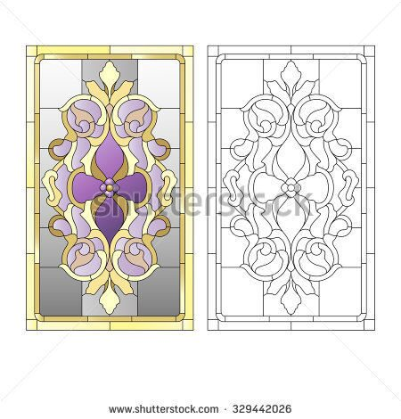 stock-vector-stained-glass-window-in-the-baroque-style-329442026
