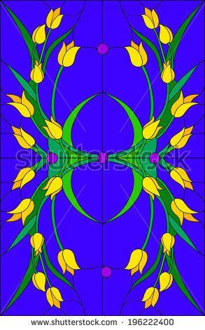 stock-vector-tulip-stained-glass-window-196222400