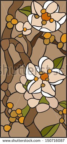 stock-vector-violets-magnolia-cherry-stained-glass-window-150716087