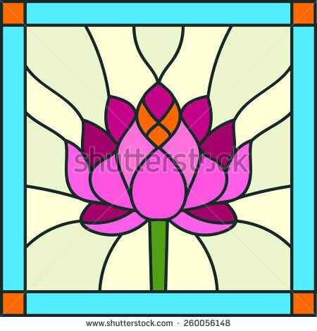 stock-vector-water-lily-or-lotus-composition-stained-glass-window-260056148
