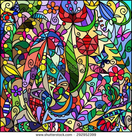 stock-vector-stained-glass-window-from-a-flower-and-vegetable-ornament-292952399