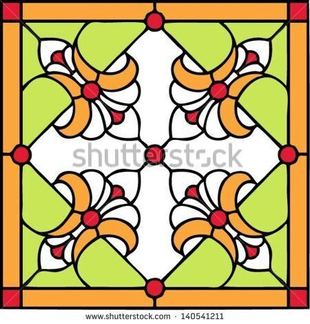 stock-vector-french-lilies-symmetric-composition-seamless-background-vector-illustrations-in-stained