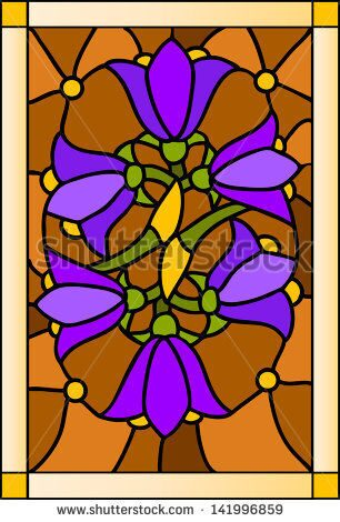 stock-vector-vector-floral-composition-with-bells-stained-glass-window-door-and-ceiling-141996859