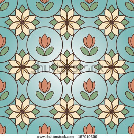 stock-vector-floral-stained-glass-seamless-pattern-157019309