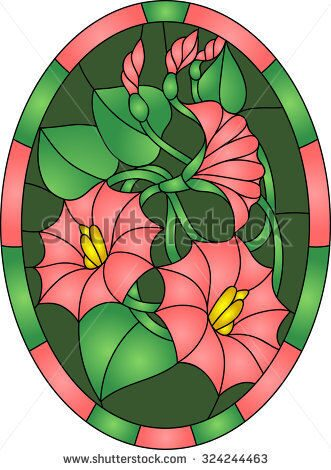 stock-vector-beautiful-garden-flowers-and-bouton-floral-vector-composition-in-stained-glass-window-3