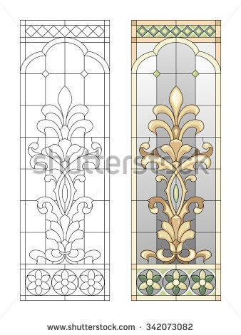 stock-vector-stained-glass-panel-with-fusing-elements-342073082