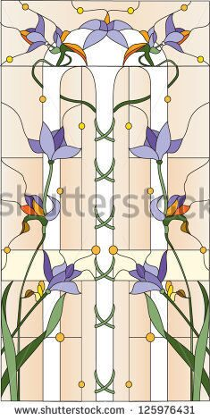 stock-vector-purple-flowers-stained-glass-window-125976431