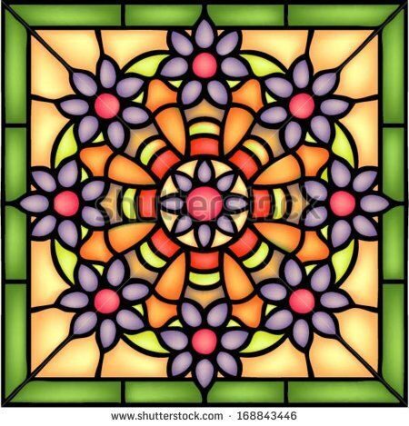 stock-vector-georgian-style-round-floral-symmetric-composition-vector-illustrations-in-stained-glass