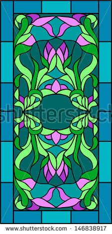 stock-vector-floral-ornament-of-tulips-vector-illustration-in-stained-glass-window-146838917