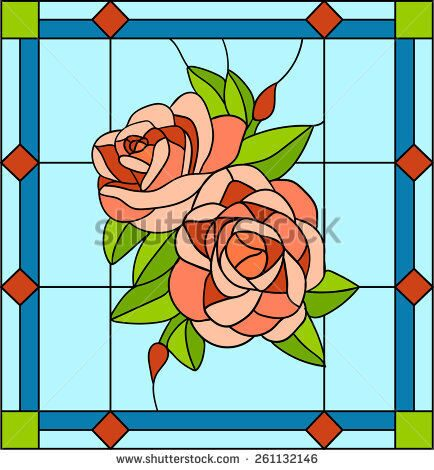 stock-vector-rose-stained-glass-window-261132146