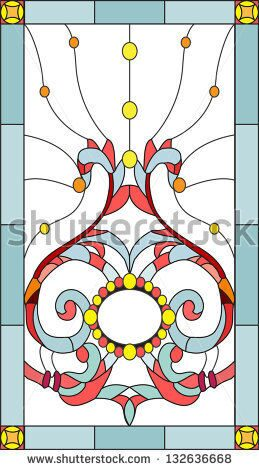stock-vector-floral-ornament-on-the-ceiling-window-and-door-stained-glass-window-132636668