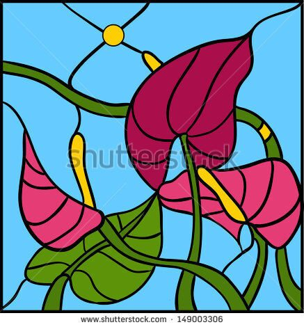stock-vector-flower-arrangements-and-ornaments-in-vector-graphics-anthurium-foliage-149003306