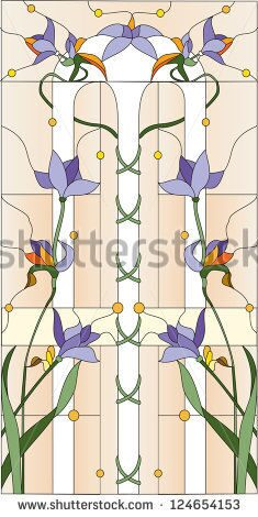 stock-photo-purple-flowers-stained-glass-window-124654153
